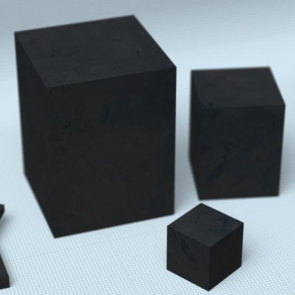 カーボンブロック材[寸法:160×160×240mm][数量:1個][品種:押出成型品(GR-103)][納期:2~4週間(受注生産品)]