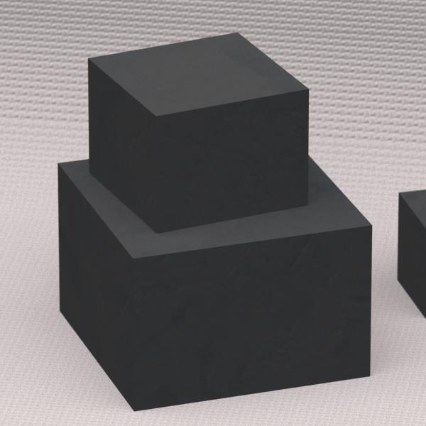 ☆趣味 DIY 実務の素材として カーボンブロック材 寸法:200×200×200mm 数量:1個 IGS-743 納期:2~4週間 交換無料 受注生産品 訳あり商品 品種:CIP成型品