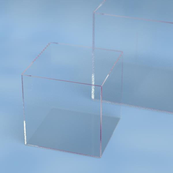 石英ガラス製角型ビーカー[外寸:W100×D100×H100mm、板厚2mm][材質:高純度石英(溶融石英)]