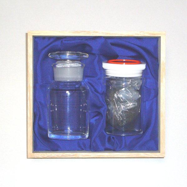 [理系 - Rikei - シリーズ]理系ボックス・SmpC(広口瓶+カーボンフレーク+カーボンキューブ+木箱)