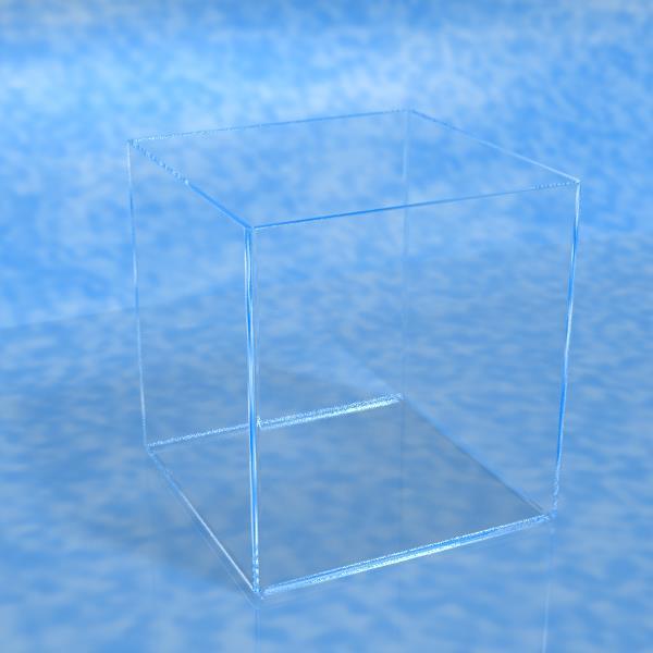 [代金引換不可]パイレックスガラス製ビーカー[サイズ指定の受注生産品][サイズ:幅200mmまで・奥行き200mmまで・高さ200mmまで・板厚3mm][受注生産品:納期3~5週間]