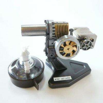 スターリングエンジン【SE-905GB】[発電機付き][カラー:ブラック][タイプ:組立て完成品・動作チェック済み]