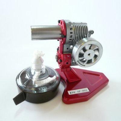 スターリングエンジン【SE-905NR】[カラー:レッド][タイプ:組立て完成品・動作チェック済み]