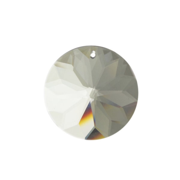 ASFOUR CRYSTAL1041 ラウンド1つ穴40mm(クリア)[商品種別:クリスタルパーツ][サイズ:(約)縦40×横40mm][カラー:CRYSTAL(透明)][数量:1箱(85個入り)]