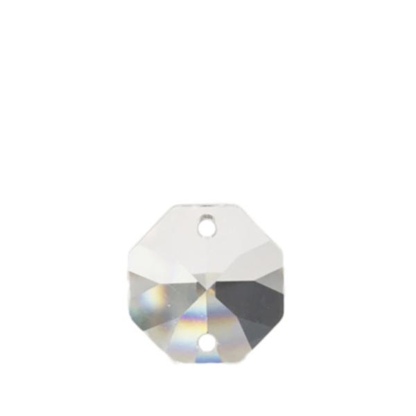 ASFOUR CRYSTAL1080 オクタゴン2つ穴14mm(クリア)[商品種別:クリスタルパーツ][サイズ:(約)縦14×横14mm][カラー:CRYSTAL(透明)][数量:1箱(2000個入り)]