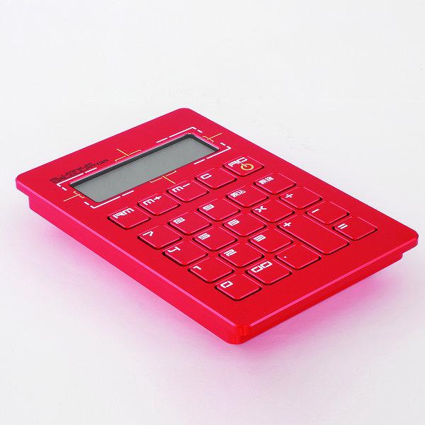 [注意:銀行振込のみ]粋[sui] PRESIDENT Series電子計算機(電卓)[表面の追加仕様:カラーアルマイト(赤)][桐箱:なし(本体のみ)][受注生産品(納期5~7週間)][表面のヘアーライン加工なしです]