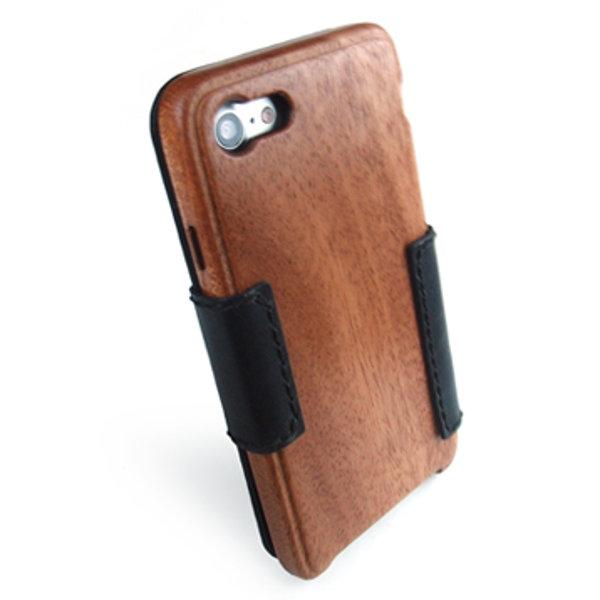 [送料無料!]木製ケースiPhonee 8専用木と革のケースBOOKタイプ[納期:3~5週間(受注生産品)]