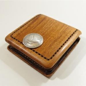 天然木・マホガニー製の小銭入れ【Design Case for Coin A】(コインケース)
