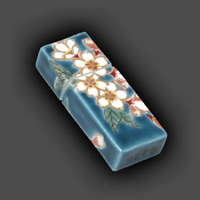 [送料無料!]電子陶箱『九谷焼USBメモリー』[図柄:紺地桜][容量:16GB]