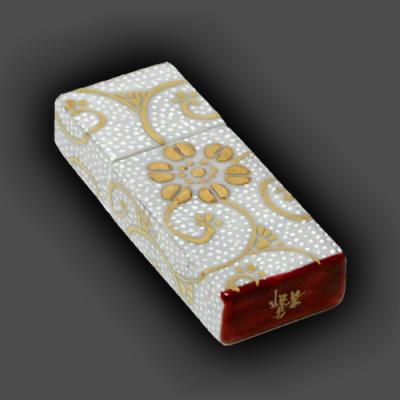 [送料無料!]電子陶箱『九谷焼USBメモリー』プレミアムバージョン(本金手描き仕様)[図柄:白粒][容量:16GBから選択]