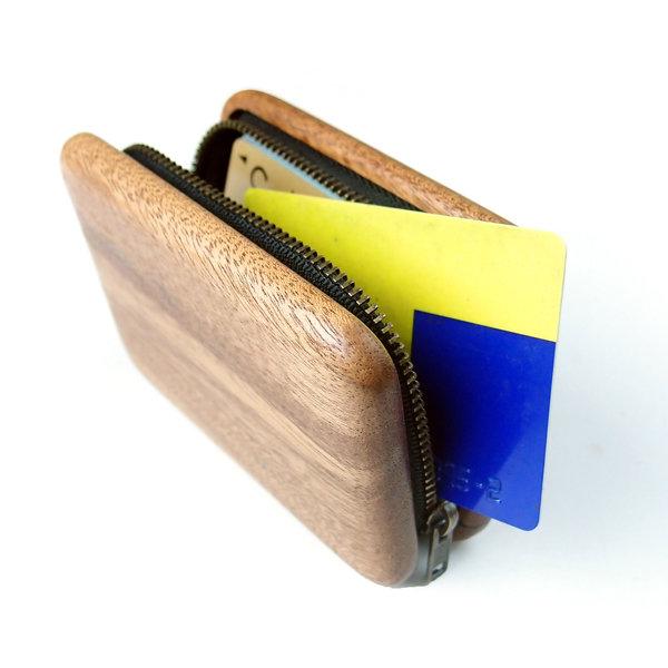 木とチャックのポーチCookie Sand Pouch Mサイズ(クッキーサンドポーチMサイズ)[素材:アフリカンマホガニー][受注生産品:納期3~5週間]