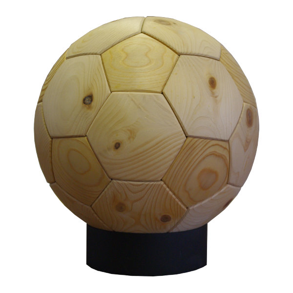 WOOD SOCCER BALL(木製サッカーボール)[素材:檜(ヒノキ)]