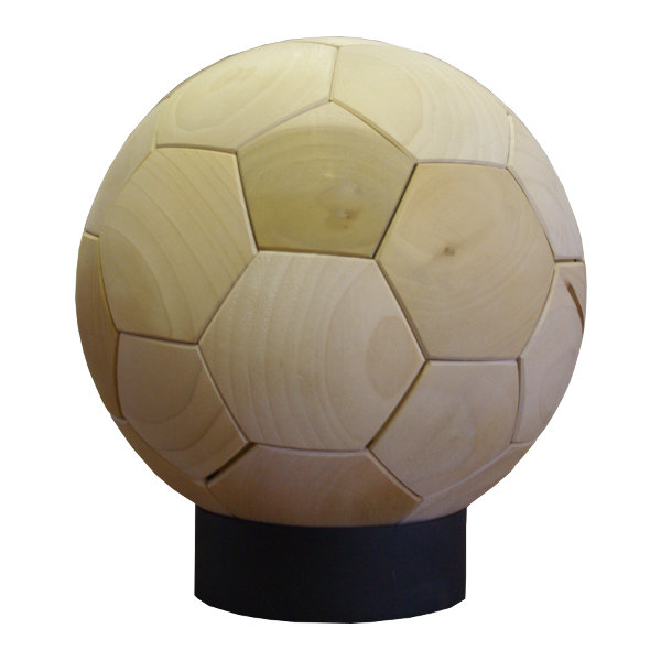WOOD SOCCER BALL(木製サッカーボール)[素材:ポプラ]