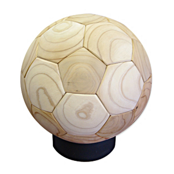 WOOD SOCCER BALL(木製サッカーボール)[素材:杉(スギ)]