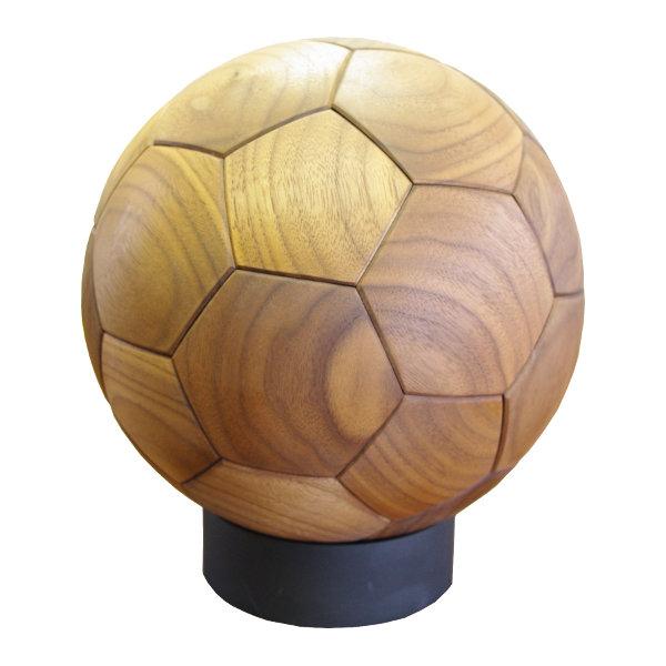 WOOD SOCCER BALL(木製サッカーボール)[素材:ウォールナット]