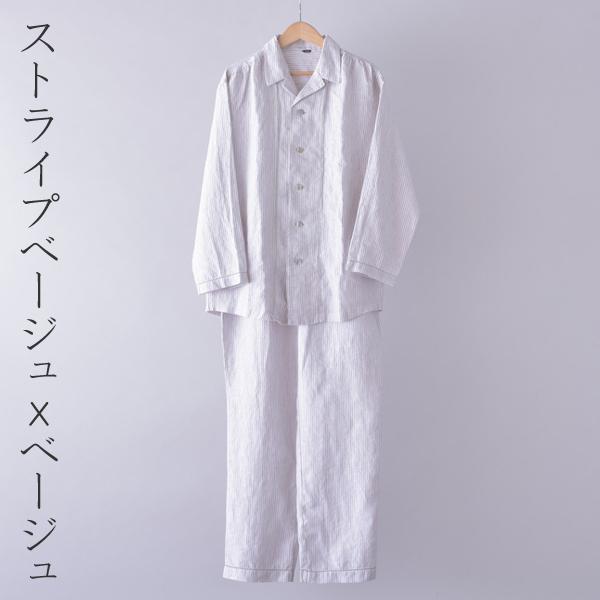 リネンピコ 缝纫睡衣男子的睡衣妇女睡衣男子暨 M 大小 L 大小 LL 大小 2P13oct13_b