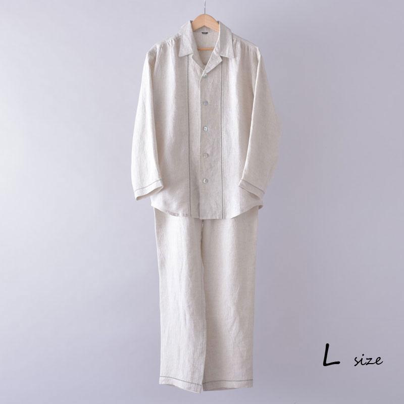 パジャマ 大きいサイズ レディース パジャマ リネン 麻 ナチュラル Lサイズ ピコミシン メンズ パジャマ ギフト 父の日 母の日 プレゼント
