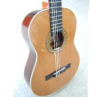 定番 カナダ産レッドシダー単板 ショートスケールクラシックギター小型ギター610mm 大決算セール 専用ハードケース スペイン製