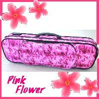 バイオリンケース ピンク・フラワー リュック可能 4/4サイズ