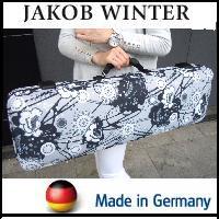 バイオリンケース JAKOB WINTER【日本正規品】 ドイツ製 Retro/モノトーン花柄 4/4サイズ用角型リュック可