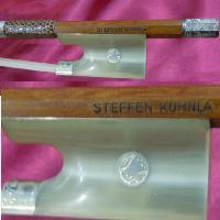专业的特别的我的德国明星Steffen Kuhnla小提琴弓v051 White Horn