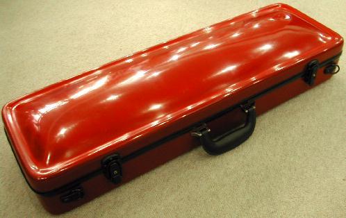 バイオリンハードケース ハイブリッドカーボン製 レッド色 | リュック可