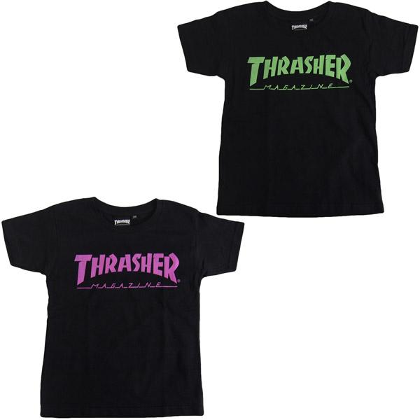 8099a1ac7240 THRASHER  slasher THRASHER MAG LOGO short sleeves T-shirt  130cm 140cm 150cm 160cm FLAKE children s clothes flakes children s clothes kids  kids Jr. dance ...