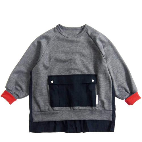 MOL モル MLP square pocket sweat shirts/スクエアポケットスウェットシャツ Hチャコール FREE(Ladies')/FREE-2(Ladies') 【送料無料(沖縄県と離島は除く)】(ゆうパケット(メール便)OK)MOL 子供服 モル 子ども服 レディース