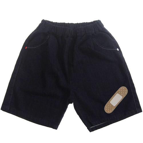 【再入荷】MOL モル MLP plaster half pants/絆創膏アイロンワッペン付きデニムハーフパンツ (ゆうパケット(メール便)OK)FREE(Ladies') (定番商品)MOL 子供服 モル 子ども服 レディース