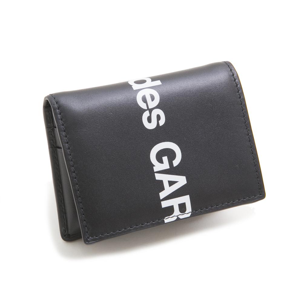 コムデギャルソン カードケース 二つ折り HUGE LOGO WALLET ヒュージ ロゴ ウォレット SA0641HL BLACK メンズ レディース COMME des GARCONS 【新品・送料無料】