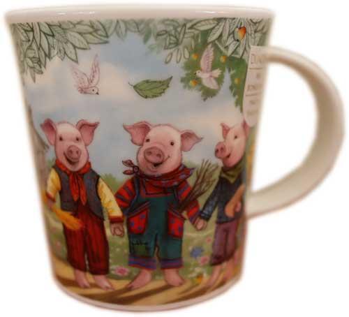 ダヌーン マグ LOMOND グリム童話 英国製 イギリス製 ティータイム ギフト プレゼント Dunoon 贈り物 セールSALE%OFF 三匹の子豚 DNFTS1 大好評です 3 マグカップ Little Pigs 0.32L