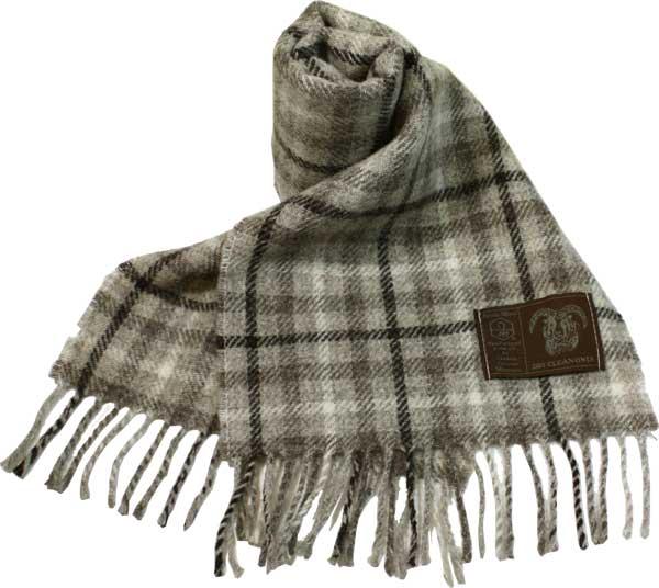 英国羊毛公社公認 希少な最高級羊毛100% Jacob 新色追加 英国製 イギリス製 スコットランド製 自然な色合い 薄い 軽い JSC03 ふんわり 柔らか Check Gun ウール男性用マフラー 往復送料無料 ジェイコブ 7 Club