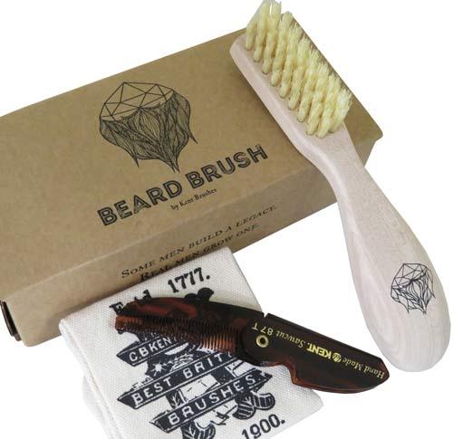 GB KENT メンズ Beard Brush (ビアードブラシ)ひげ用 ブラシ BRD1英国製・イギリス製