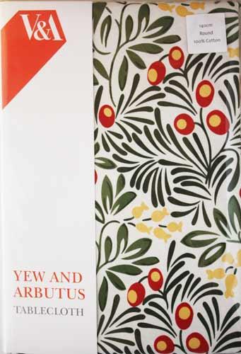 V&A ヴィクトリア&アルバート ラウンド型 テーブルクロス Yew & Arb TBCH60C (約 直径140cm)