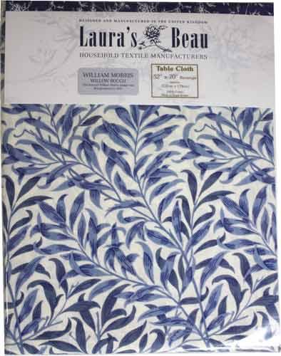 モリスデザインオックスフォードタイム テーブルクロス(長方形)Blue Willow TBCH12R(約 縦132cm × 横178cm)