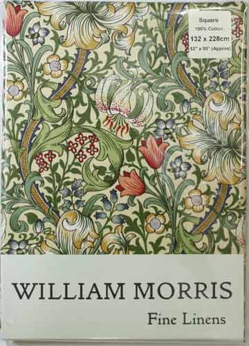 ウィリアム モリス テーブルクロス(正方形)Golden Lily TBCH96SQ(縦132cm × 横132cm)