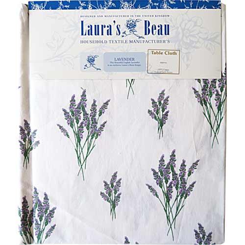 テーブルクロス(長方形)Lavender TBCH20C(約 直径147cm)