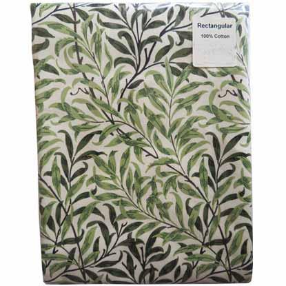 モリスデザインオックスフォードタイム テーブルクロス(長方形)Green Willow TBCH31R (縦132cm × 横178cm)