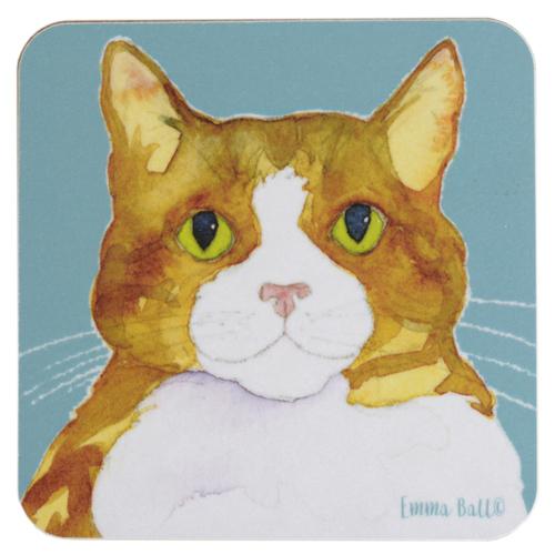 メール便対応 猫 ネコ コップ敷き キッチン 雑貨 インテリア ギフト EBCW081 コースターBurton Coasters プレゼント Emma 販売 お得セット Coggles Ball