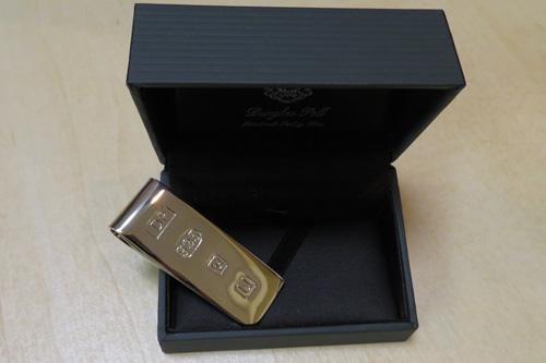 Sterling silver James Bond money clip SDP1620
