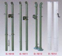 【送料無料】ダンノ(DANNO)固定式テニス用支柱(屋外用)角型内蔵