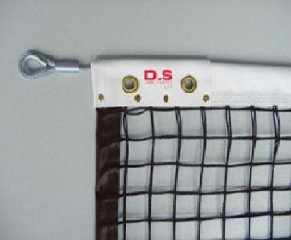 【送料無料】ダンノ (DANNO) 硬式テニスネット (周囲テープ付 オールシングルネット) 硬式ダイニーマ240 D-6160BK