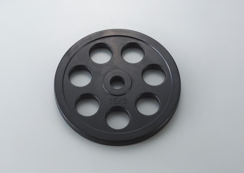 【送料無料】ダンノ (DANNO) ラバーバーベルプレート50 15kg D-5874