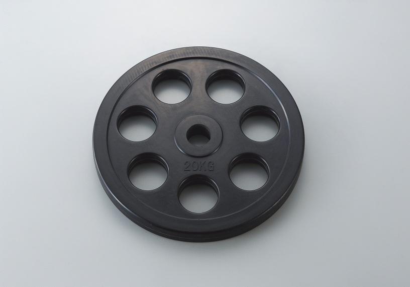 【送料無料】ダンノ (DANNO) ラバーバーベルプレート50 20kg D-5875