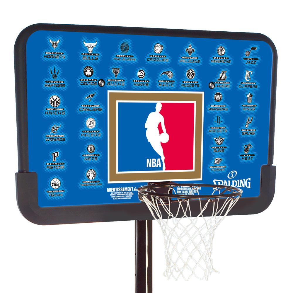 【送料無料】SPALDING (スポルディング) NBA チームシリーズ 44インチ スポルディング バスケットゴール 屋外用 工具不要 簡単組み立て 61501CN
