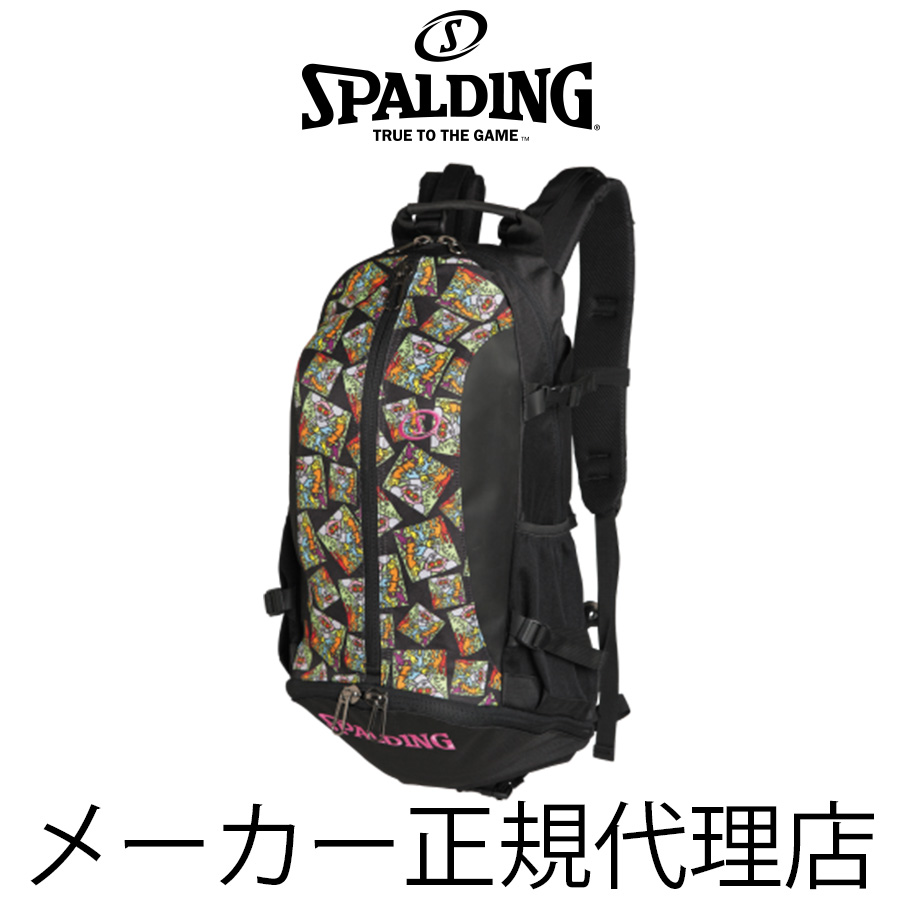 【送料無料】【SPALDING】 スポルディング  CAGER(ケイジャー) キース・へリング アンディ・マウス Keith Haring ANDY MOUSE バスケットボール専用 バッグ 32L 日本限定発売 40-007KHAM