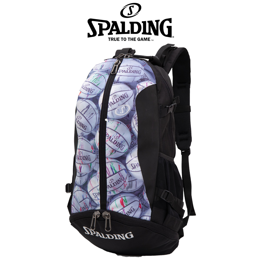 【SPALDING】 スポルディング ケイジャー マーブルボール リュックサック ボールバック バックパック CAGER 40-007MB
