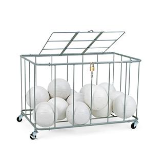 エバニュー(EVERNEW) ボール整理カゴ角-5フタ付 EKE238