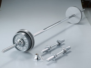 Martial world (MARTIAL WORLD) BARBELL and DUMBBELL アイアンバーベルダンベル set 35 kg set