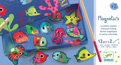 DJECO (Jeco) game card game color fishing game